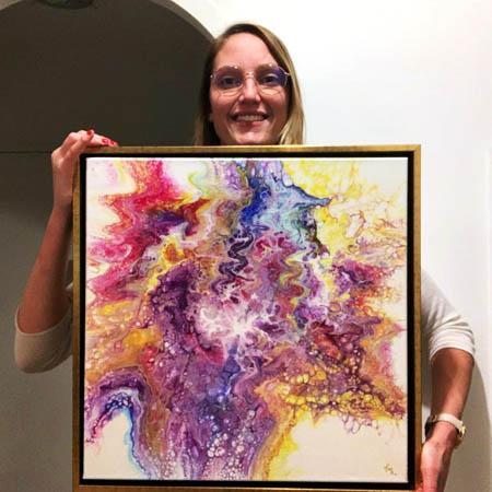 Glückliche Besitzer - Gemälde - Cyrielle Recoura Art