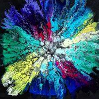 Collage Cyrielle Recoura Art - acheter tableau original coloré