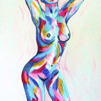 Who's that girl - nude painting - Cyrielle Recoura Art
